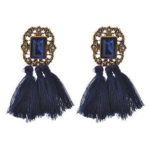 Jewelry - NEW boho blue tassel earrings